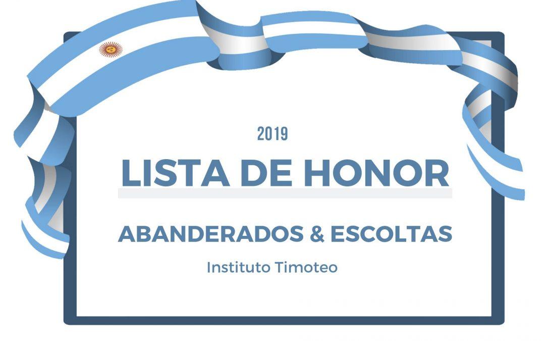 Listado De Honor 2019