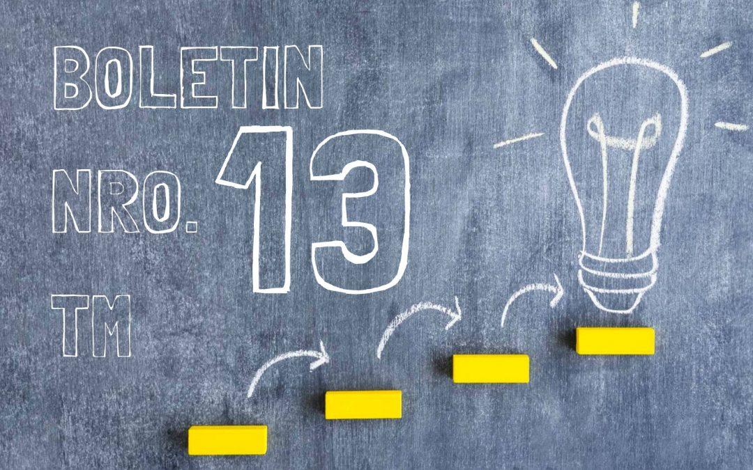 Boletin Nro. 13 Turno Mañana 2019
