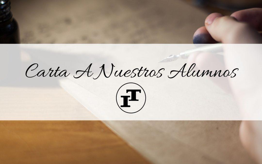 Carta A Nuestros Alumnos – Nivel Secundario 2020
